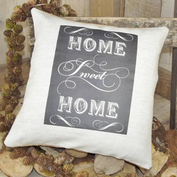 ' Home Sweet Home ' Linen Cushion