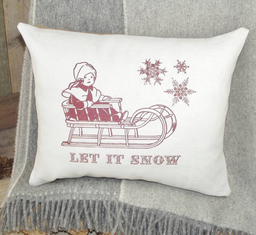 ' Let It Snow ' Christmas Cushion