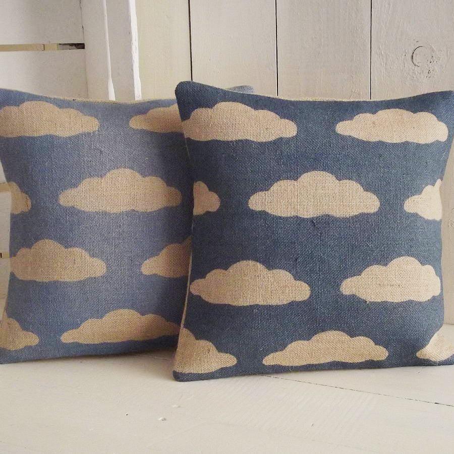 ' Cloud ' Cushion (Midnight & Sky Blue)