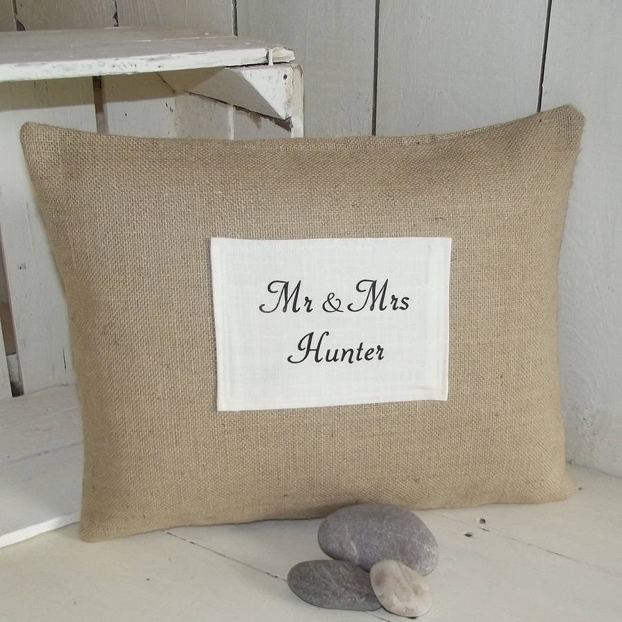 ' Mr And Mrs Personalised Surname ' Cushion