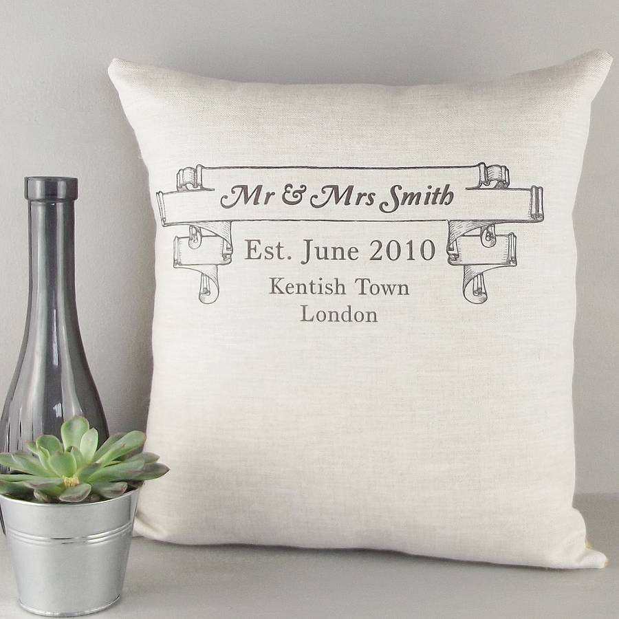 ' Mr And Mrs Wedding Anniversary ' Cushion