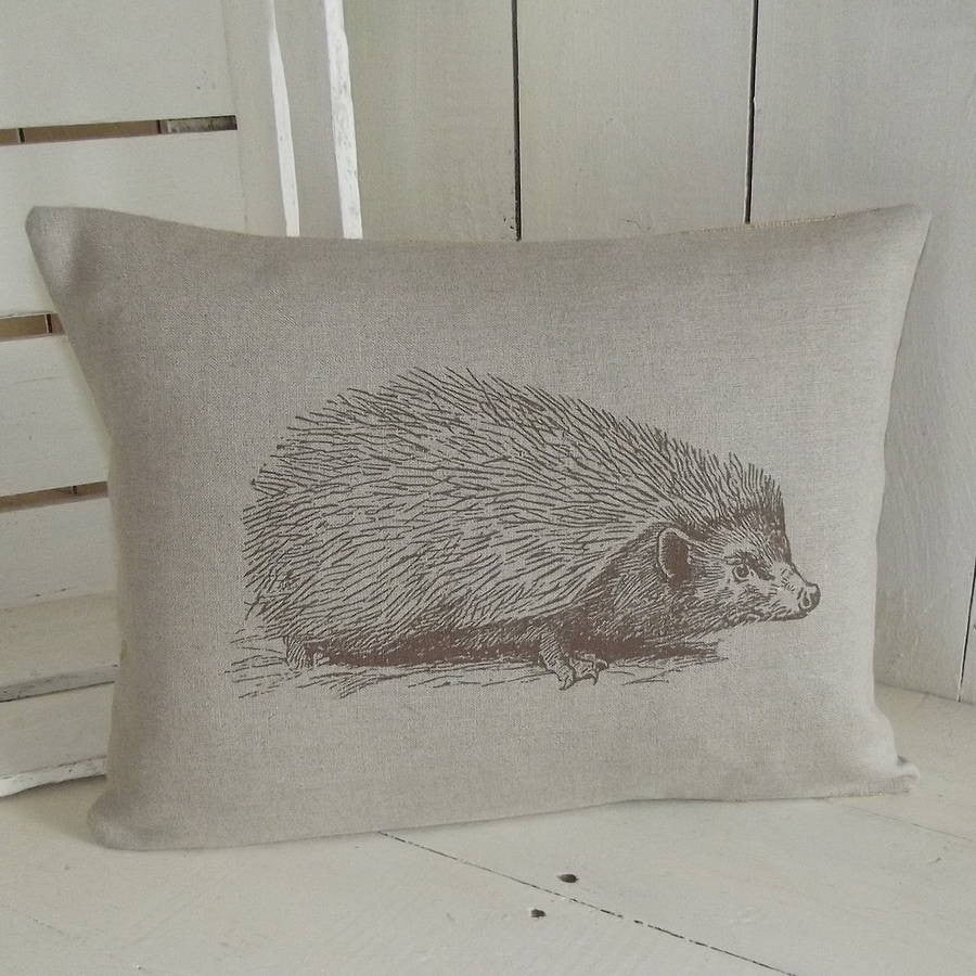 ' Hedgehog ' Linen Cushion