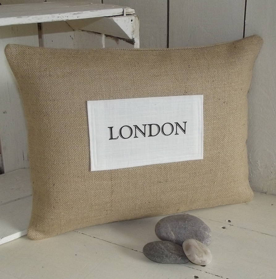' City Destination ' Personalised Cushion
