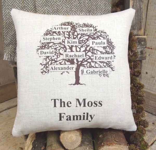 ' Family Tree ' Personalised Cushion