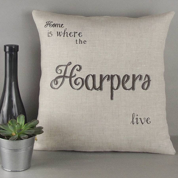 ' Home Is Where … ' Personalised Cushion