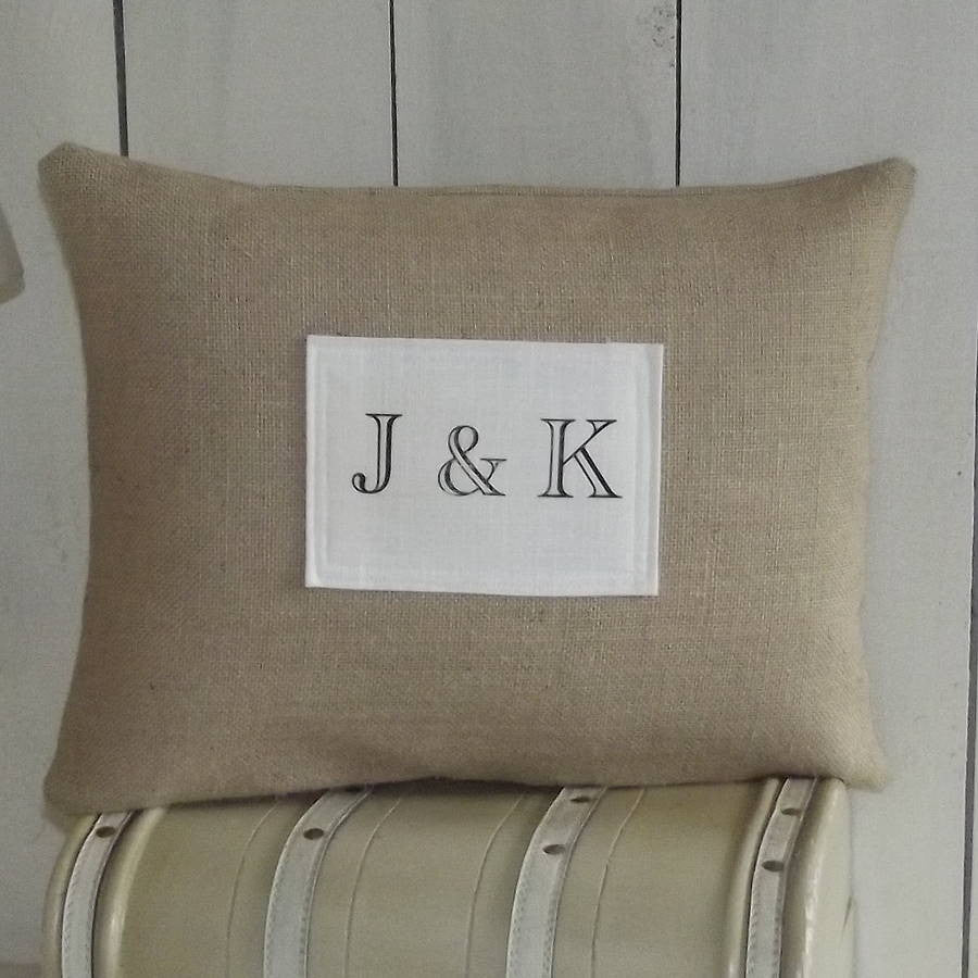 ' Love Letters Initial ' Personalised Cushion
