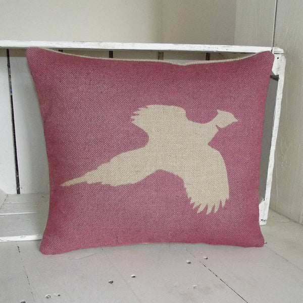 ' Country Pheasant ' Cushion (Red)