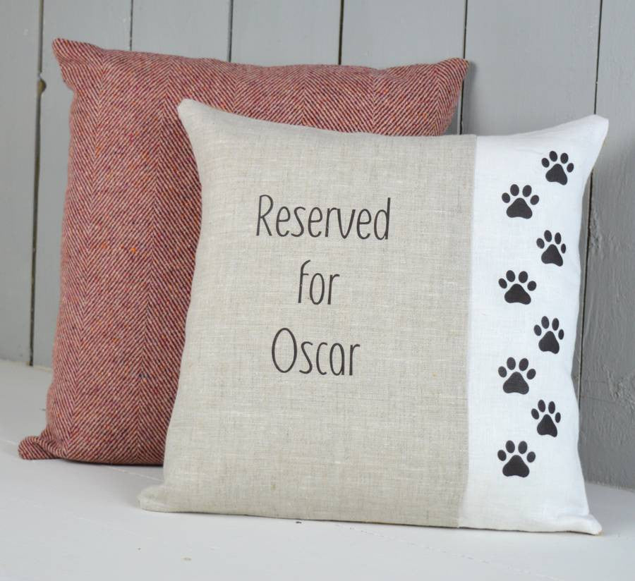 ' Reserved For Cat ' Personalised Cushion