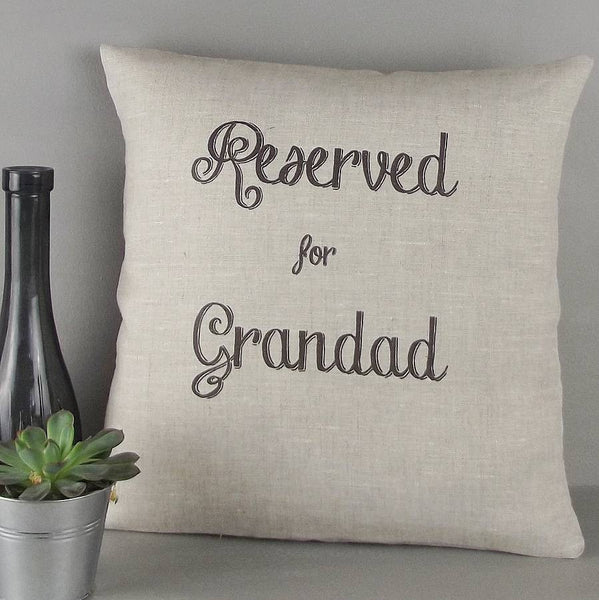 ' Reserved For Grandad ' Personalised Cushion