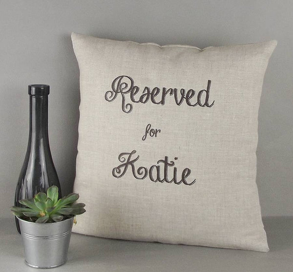 ' Reserved For Her ' Personalised Cushion