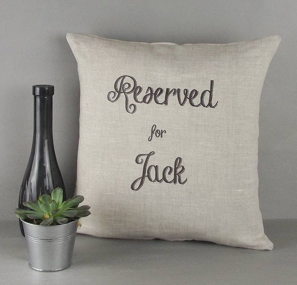 ' Reserved For Him ' Personalised Cushion