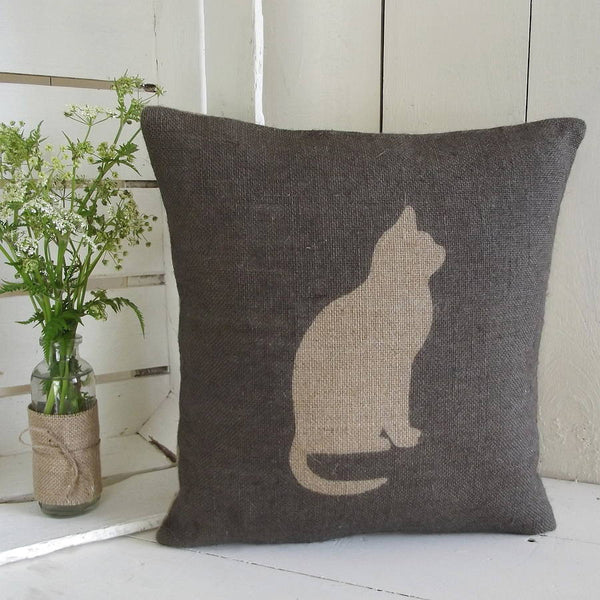 ' Cat ' Cushion (Charcoal)