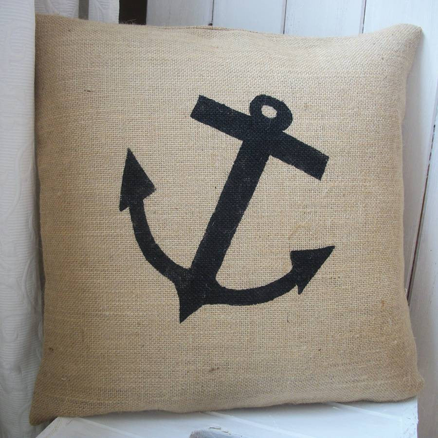 New cushion collection spring tweed cushions new heritage artist - Anchor Hessian Cushion