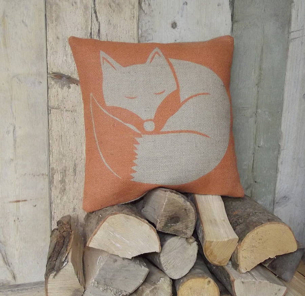 ' Rusty The Sleepy Fox ' Cushion