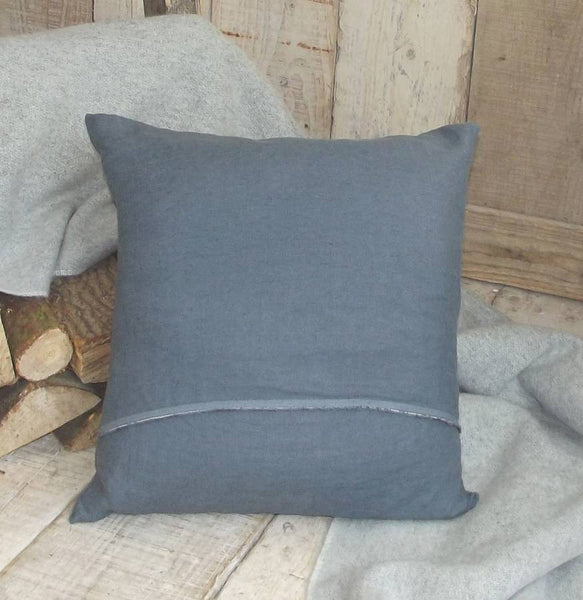 ' Luxury Slate Washed ' Irish Linen Cushion
