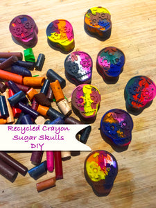 DIY: Colorful Sugar Skull Crayons