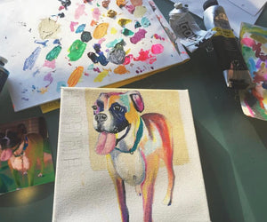 Custom Colorful Pet Portraits