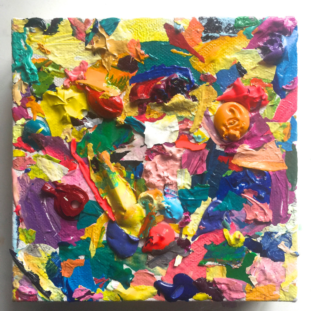 Abstract Colorful Acrylic Collage Painting