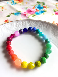 Rainbow Colorful Beaded Bracelets Supporting  ACLU