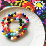 Multicolored boho bohemian Czech Glass beaded Bracelet Set