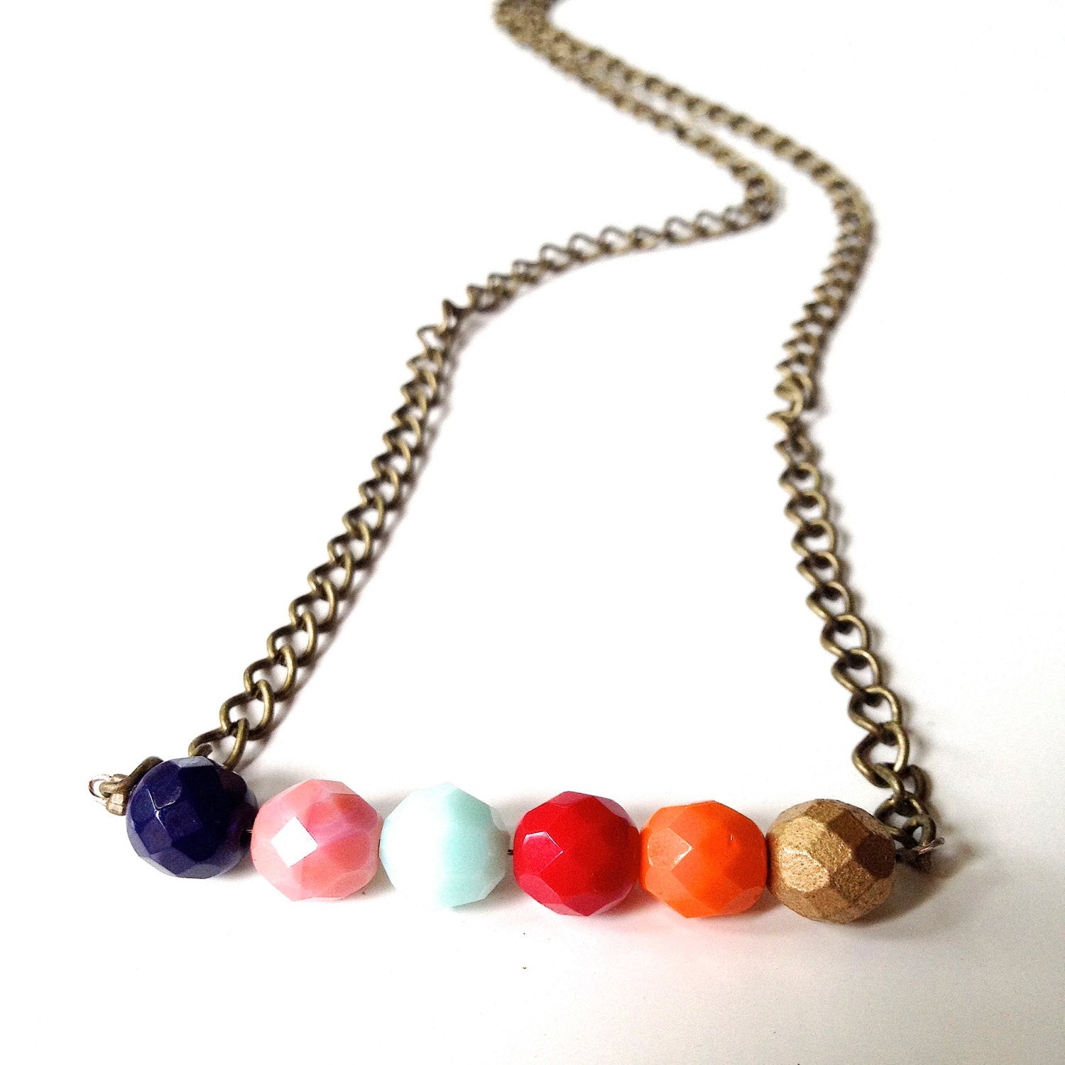 Simple Autumn Colors Czech Glass Beaded Necklace - Customizable