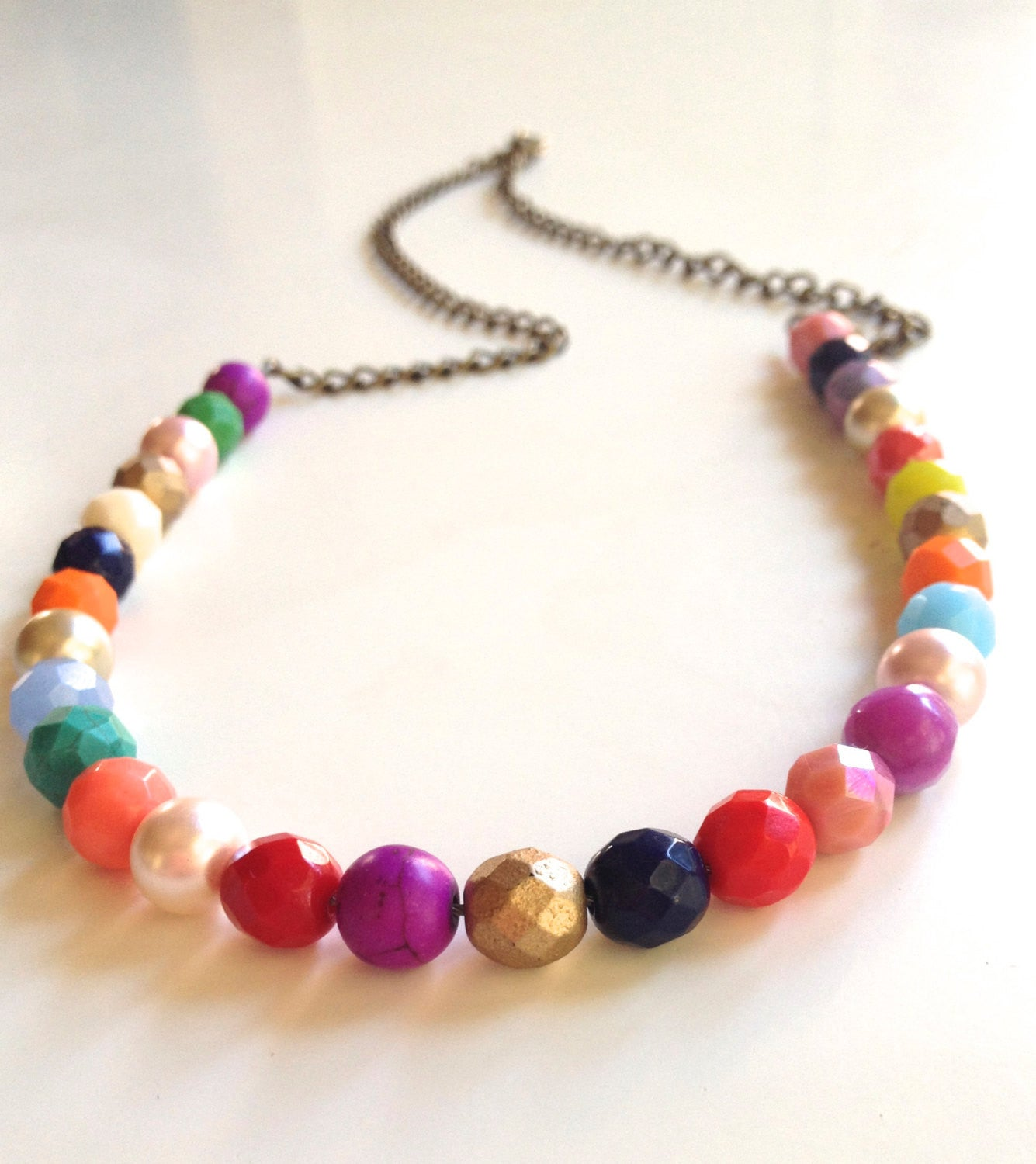 Summertime  Bright, Beautiful Czech Glass Beaded Necklace - Can Customize!