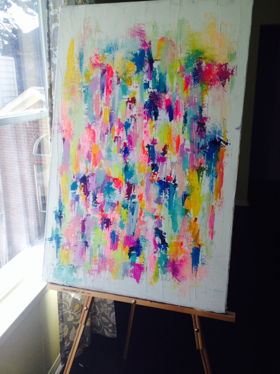 "Bright, Colorful, Fun Acrylic Painting. Original 24""x36"" Canvas Painting"