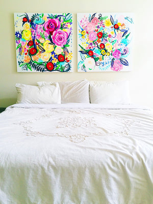 Colorful and Fun Floral Oil Painting