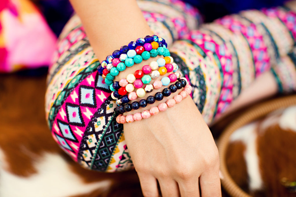 Colorful Custom Beaded Bangles