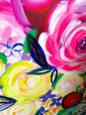 Vibrant Floral Oil Painting