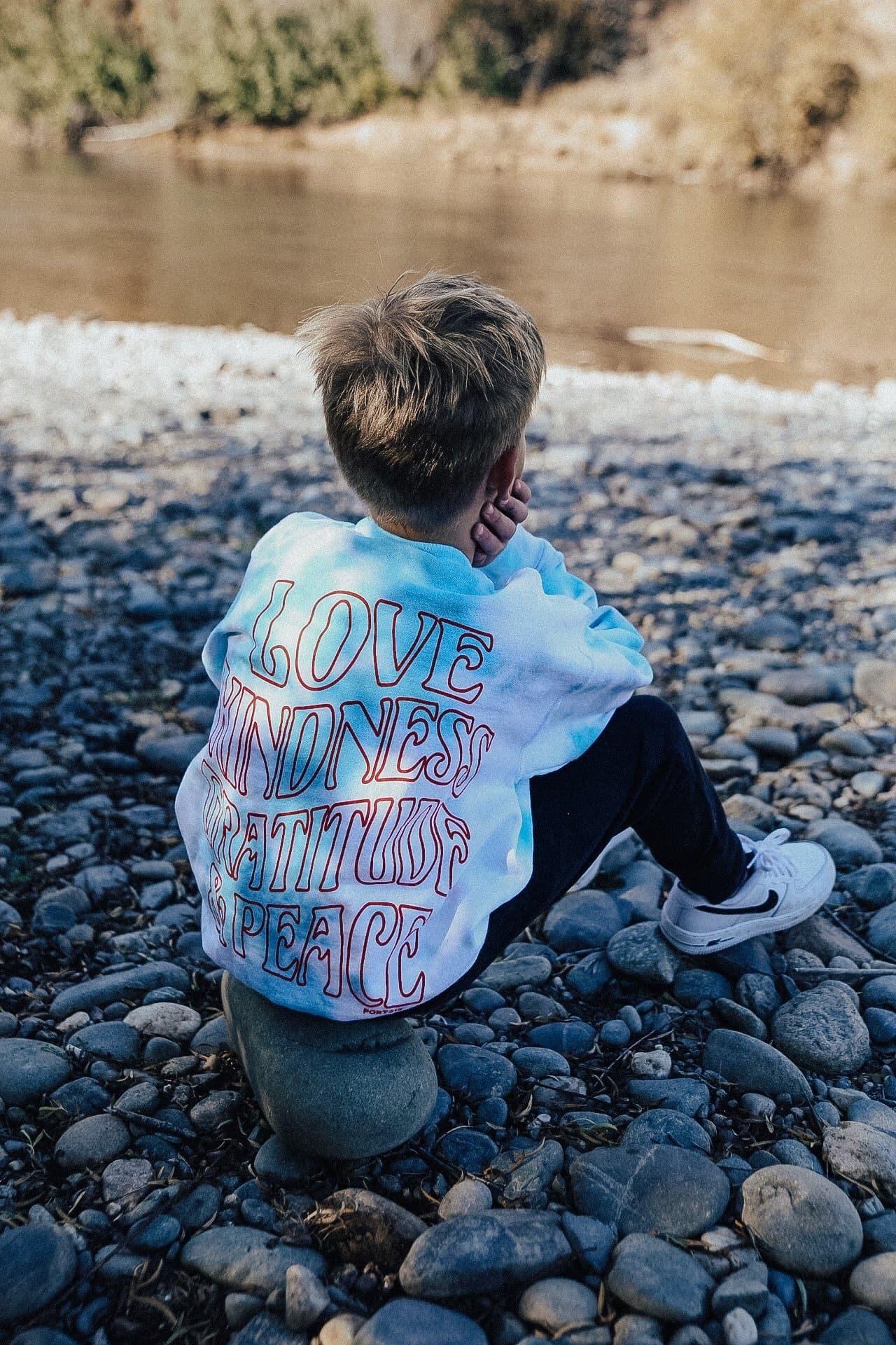 LOVE and KINDNESS People Sweatshirt - Teal and Grey