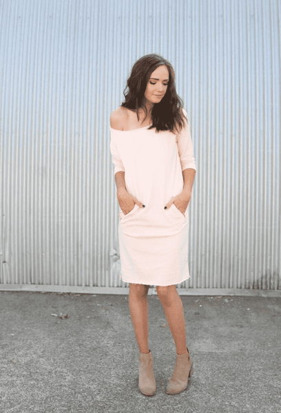 Bump & Beyond - FINAL SALE - Blush Sweater Dress - Bump, Nursing And Beyond