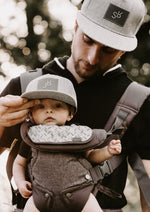 Load image into Gallery viewer, Daddy And Me - SR And JR Grey Snapback Hats