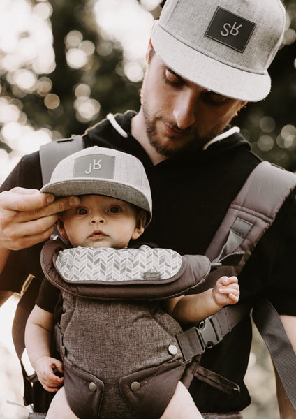 fe17cd267da90 Daddy And Me - SR And JR Grey Snapback Hats