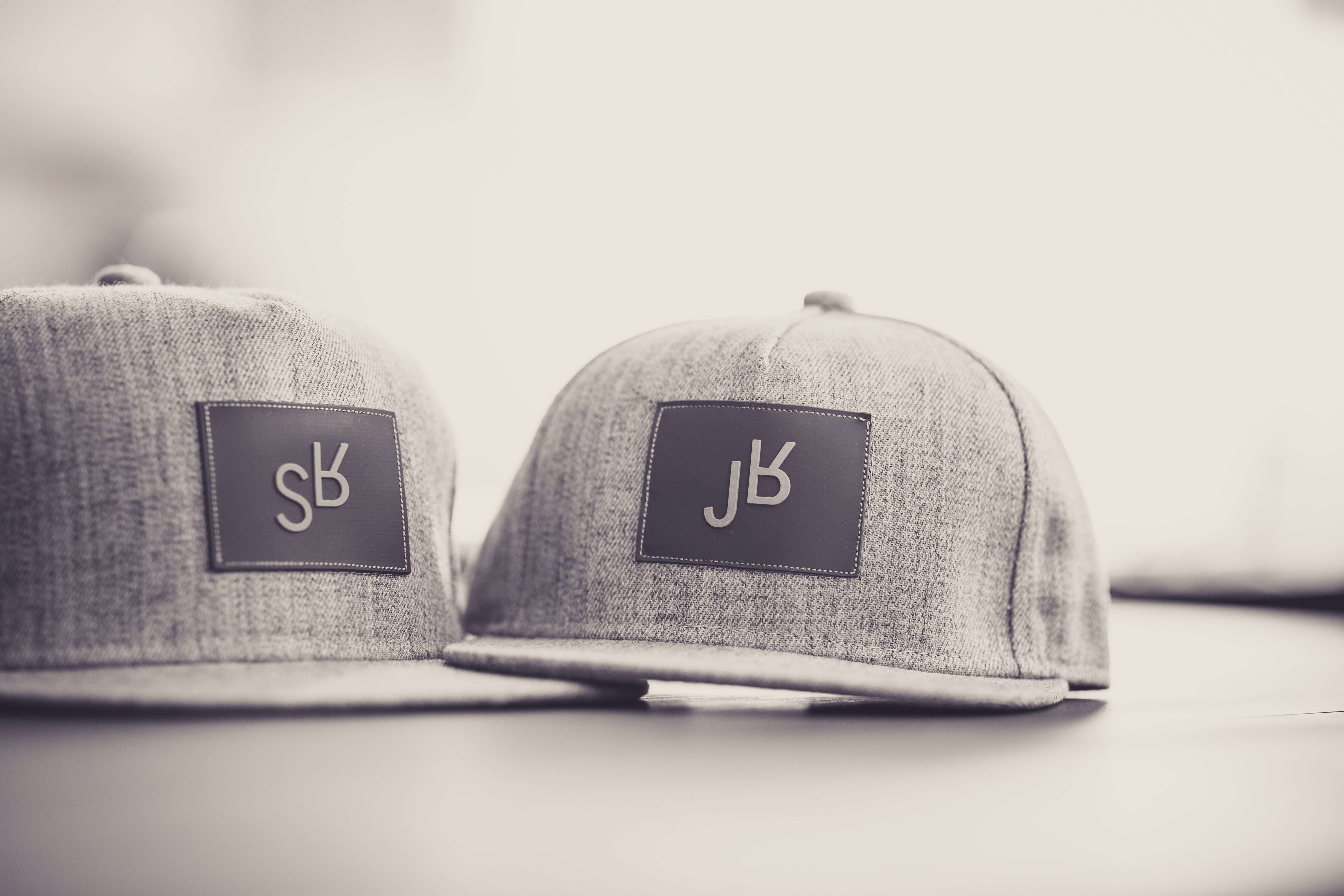Daddy And Me - SR And JR Grey Snapback Hats