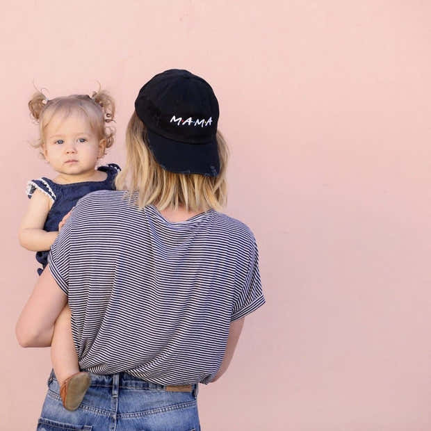 FRIENDS Mama and Family Distressed Baseball Hat 1