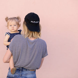 Hats - Distressed FRIENDS MAMA Baseball Hat
