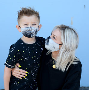 Mommy and Me Tie Dye Masks