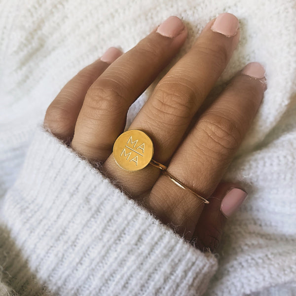 Forever Mama Jewelry Collection- Circle Mama Ring