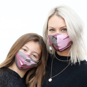 Mommy and Me Camo Masks