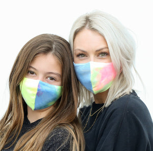 COLORBLOCK Mommy and Me Neon Tie Dye Masks