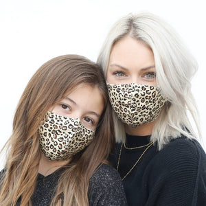 Leopard Mommy and Me Masks