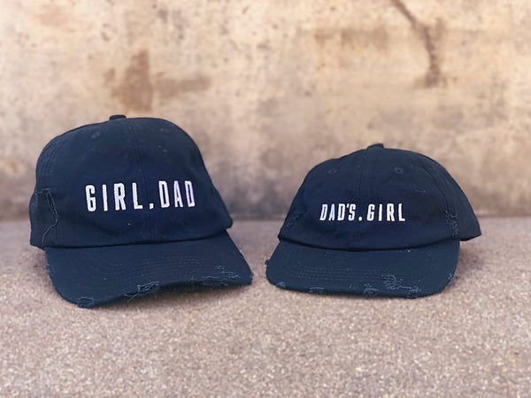 Girl Dad and Dad's Girl Distressed Hats