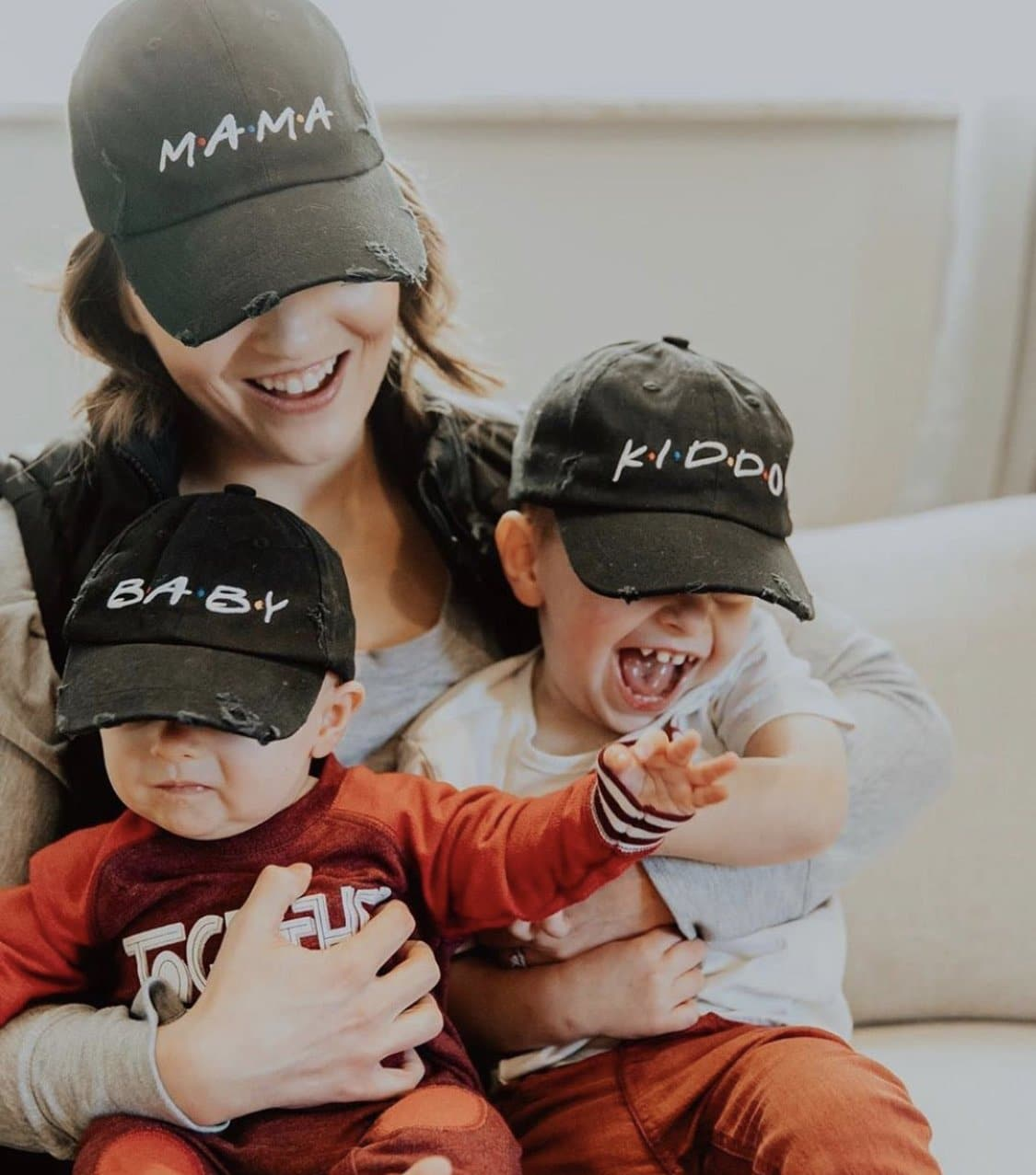 FRIENDS Mama and Family Distressed Baseball Hat