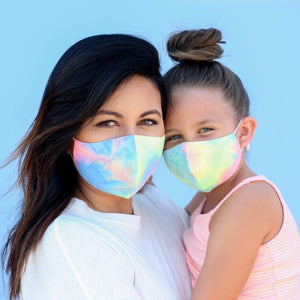 Mommy and Me Neon Tie Dye Masks