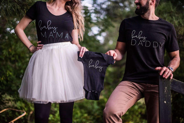 Maternity Shirt - Baby Announcement Set
