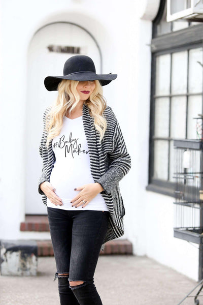 Maternity Shirt - #BabyMaker Maternity Shirt