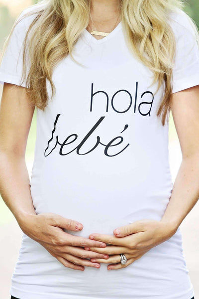 Maternity Shirt - FINAL SALE - Hola Bebe Maternity Shirt