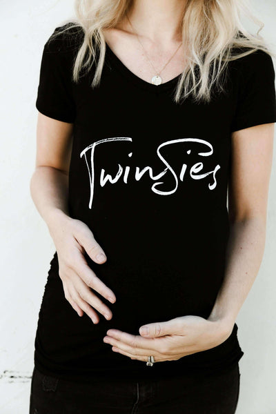 Maternity Shirt - Twinsies Maternity Shirt