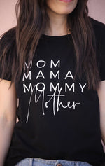 Load image into Gallery viewer, Mom Names Shirt